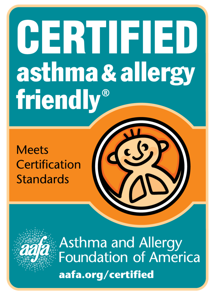 Certified asthma and allergy friendly