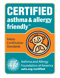 asthma and allergy friendly Certified Partner of AAFA