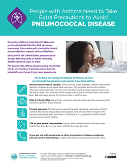 asthma and pneumococal disease handout