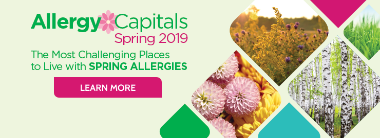 Spring Allergy Capitals 2019 Slider