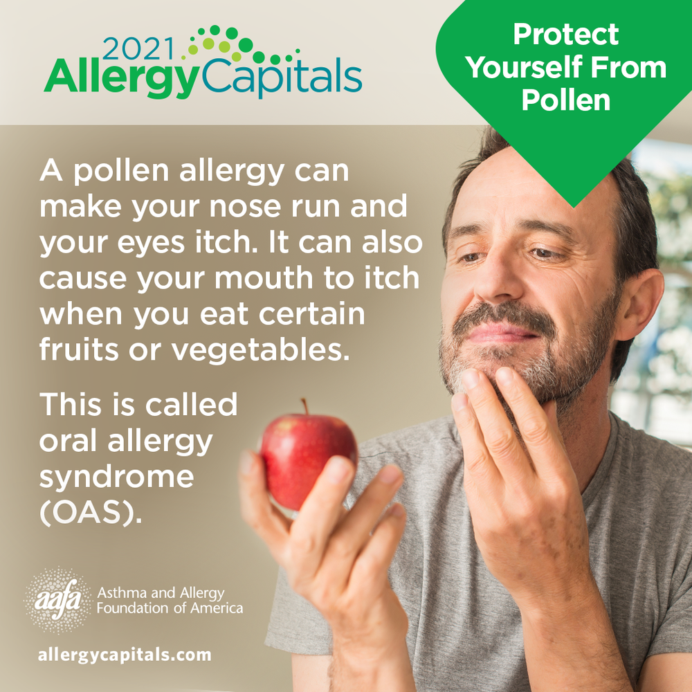 Pollen on Certain Vegetables and Fruit