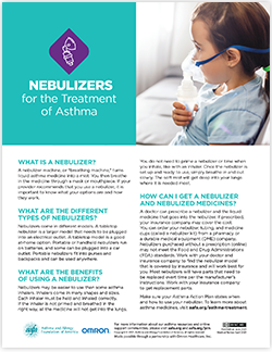 Nebulizers for the treatment of asthma